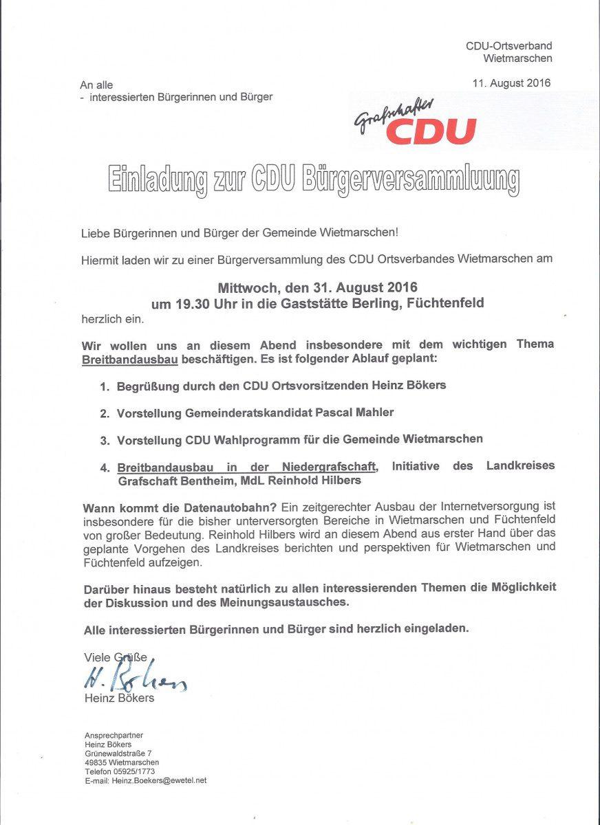 Bürgerversammlung Füchtenfeld 001